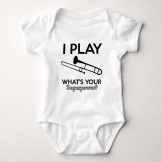 trombone designs baby bodysuit