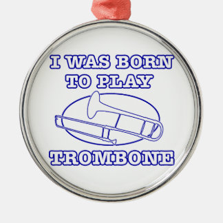 trombone Designs Metal Ornament