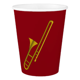 Trombone illustration paper cup