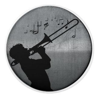 Trombone Jazz Ceramic Knob