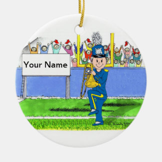 Trombone - Male Ceramic Ornament