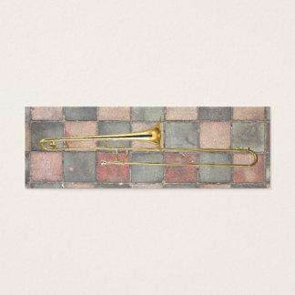 Trombone Marks the Spot Mini Business Card