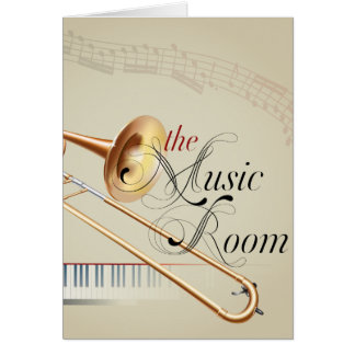 Trombone Music Room Card