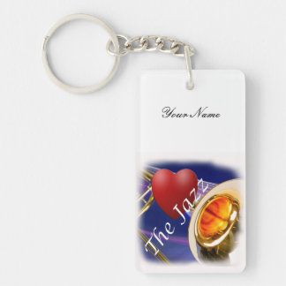 Trombone Musician Love Key Chain or Keychain