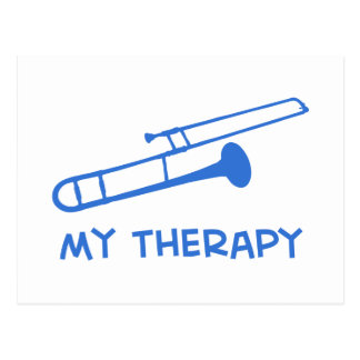 Trombone my therapy designs postcard