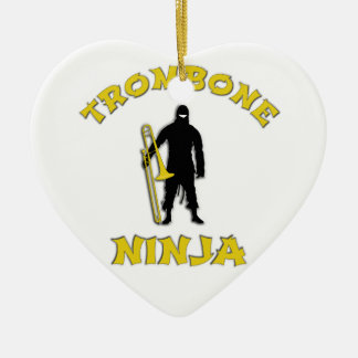 Trombone Ninja Ceramic Ornament