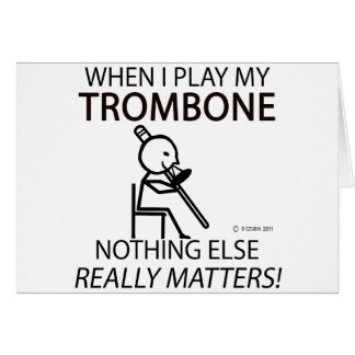 Trombone Nothing Else Matters Cards