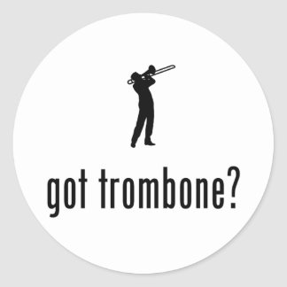 Trombone Player Classic Round Sticker