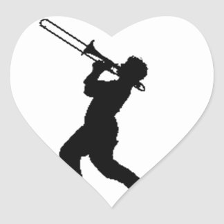 """""""Trombone Player"""" design gifts and products Heart Sticker"""