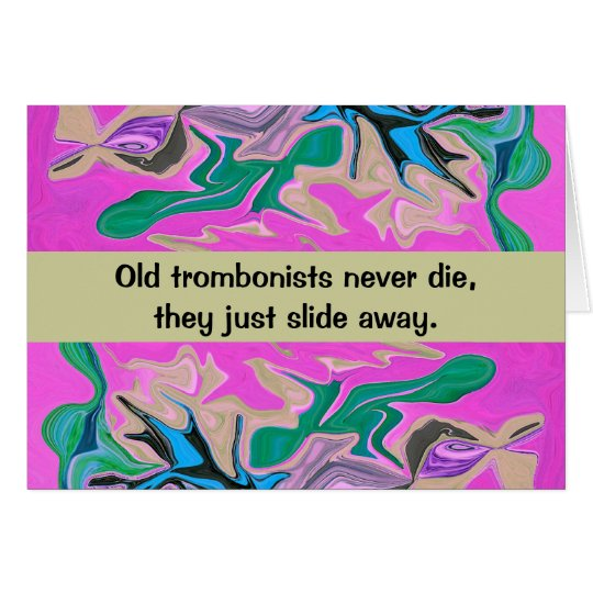 trombone player humour card