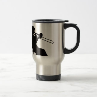 Trombone player in da house travel mug