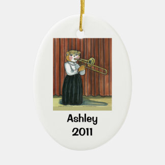 Trombone Player Personalized Ornament