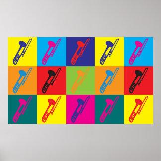 Trombone Pop Art Poster