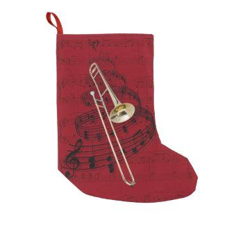 Trombone (tenor) music stocking small christmas stocking