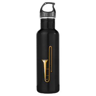 trombone upright graphic 710 ml water bottle