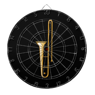 trombone upright graphic dart board