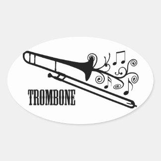 Trombone Vector Design Sticker