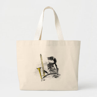 Trombone Warrior Large Tote Bag