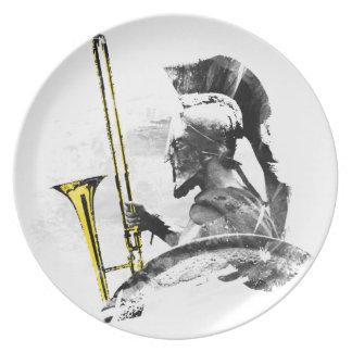 Trombone Warrior Plate