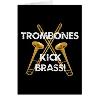 Trombones Kick Brass! Card