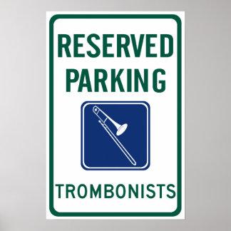 Trombonists Parking Poster