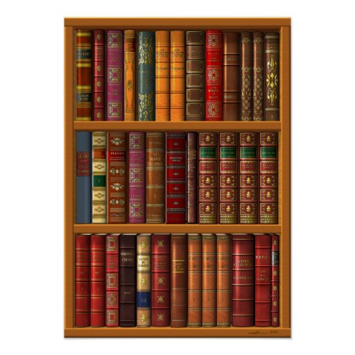 "Trompe l'oeil ""French library"". Print"