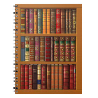 Trompe l'oeil of a library of classical books