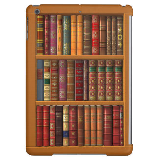 Trompe l'oeil of a library of classical books iPad air case