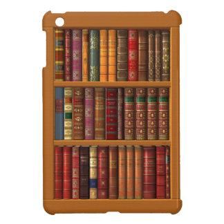 Trompe l'oeil of a library of classical books iPad mini case