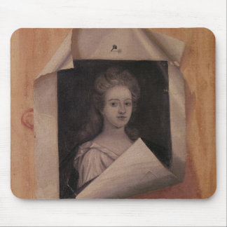 Trompe l'Oeil Portrait of a Lady Mouse Pad