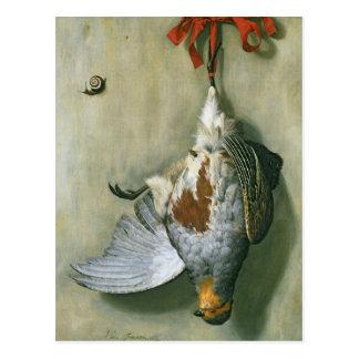 Trompe l'Oeil with Partridge, 1666 Postcard