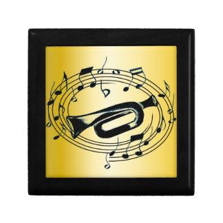Trompette et notes musicales boîte à souvenirs