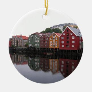 Trondheim, Norway Round Ceramic Ornament