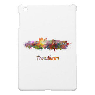Trondheim skyline in watercolor cover for the iPad mini