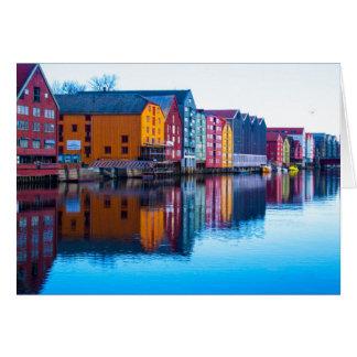 Trondheim waterfront, Norway Card