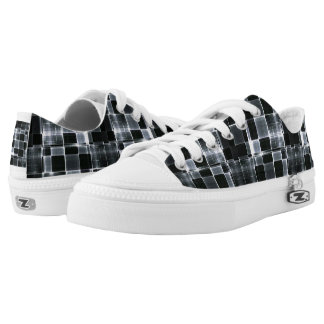 TRONG BLACK METALIZED Low-Top SNEAKERS