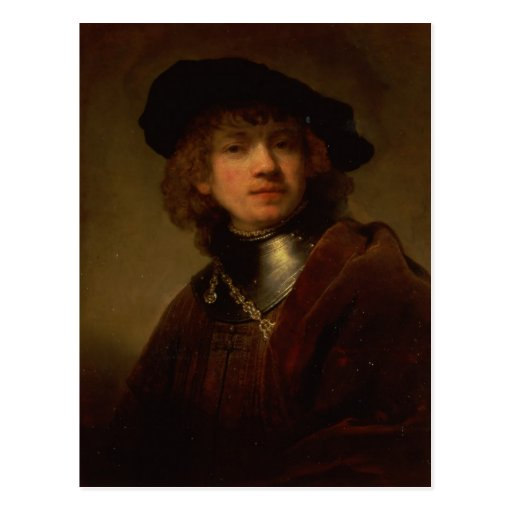 Tronie' of a Young Man with Gorget and Beret Postcards