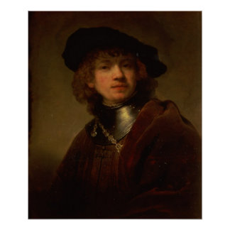 Tronie' of a Young Man with Gorget and Beret Print