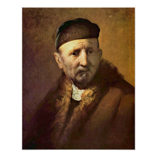 �Tronie� of an old man by Rembrandt Poster