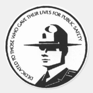 trooper round sticker