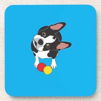 Trooper the Boston Terrier Drink Coasters