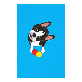 Trooper the Boston Terrier Stationery Paper