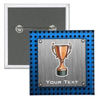 Trophée Métal-regard balayé Badges Avec Agrafe