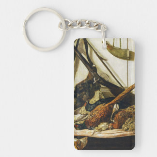 Trophies of the Hunt, 1862 Claude Monet Double-Sided Rectangular Acrylic Keychain