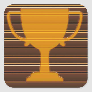 Trophy Award Cup Winner Success NVN278 Sports GIFT Square Sticker