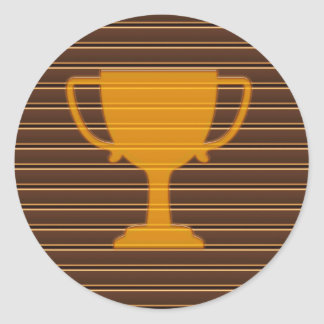 Trophy Award Cup Winner Success NVN278 Sports GIFT Round Stickers