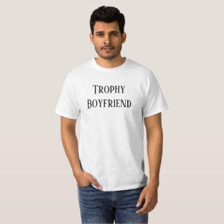 Trophy Boyfriend Christmas Holiday Gift Tee Shirt