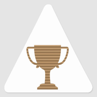 Trophy Cup Award Games Sports Competition NVN280 Triangle Stickers