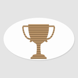 Trophy Cup Award Games Sports Competition NVN280 Oval Sticker