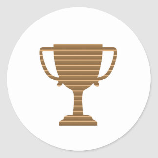 Trophy Cup Award Games Sports Competition NVN280 Classic Round Sticker